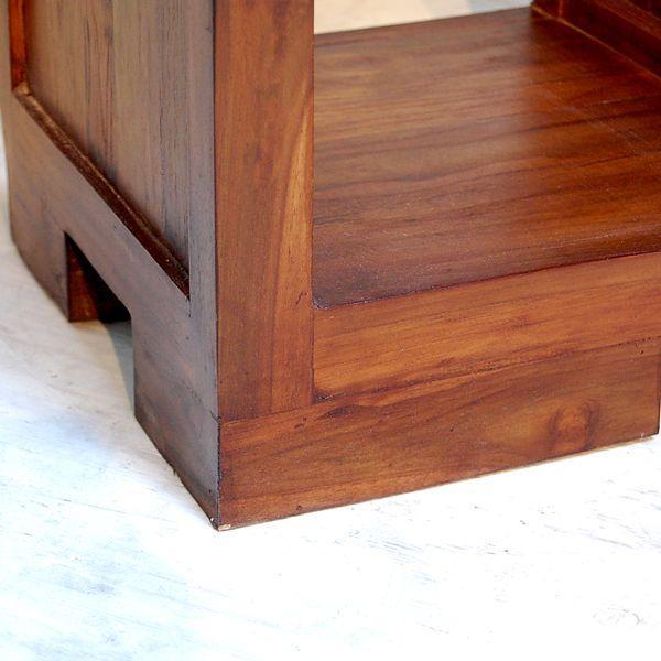 ブックケースL-R・本棚・飾り棚・チーク無垢材・インドネシア直輸入|artcrew|06