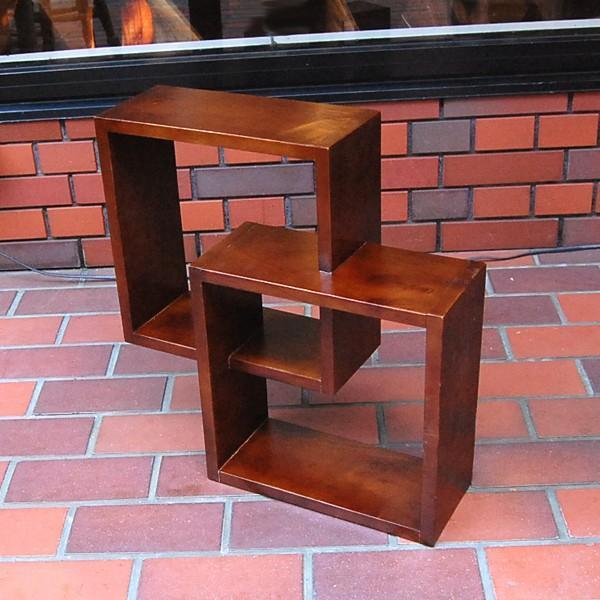 クロスキューブラック・・・CD・DVDラック・ミンディ無垢材・オリジナル家具・インドネシア直輸入|artcrew