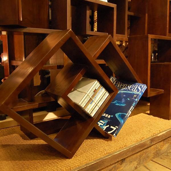 クロスキューブラック・・・CD・DVDラック・ミンディ無垢材・オリジナル家具・インドネシア直輸入|artcrew|06