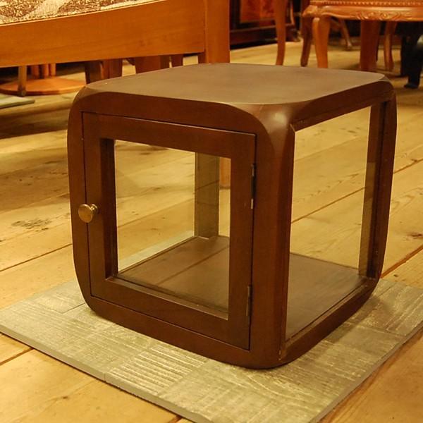 キューブガラスケース・コレクションケース・チーク・ディスプレイケース・オリジナル家具・インドネシア直輸入|artcrew