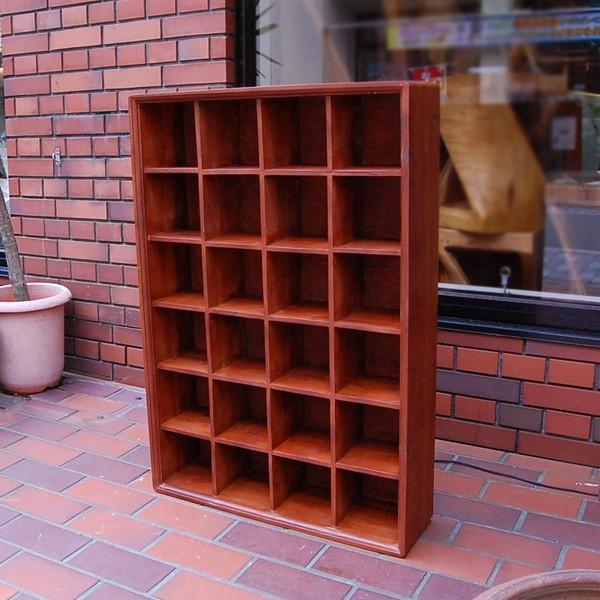 24ボックスラック・CDラック・コレクションラック・飾棚・・・チーク材・オリジナル家具・インドネシア直輸入|artcrew