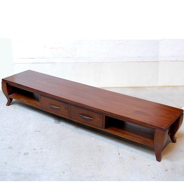 TVラック1800・TV Cabinet・テレビ台・・・チーク無垢材・オリジナル家具・インドネシア直輸入|artcrew
