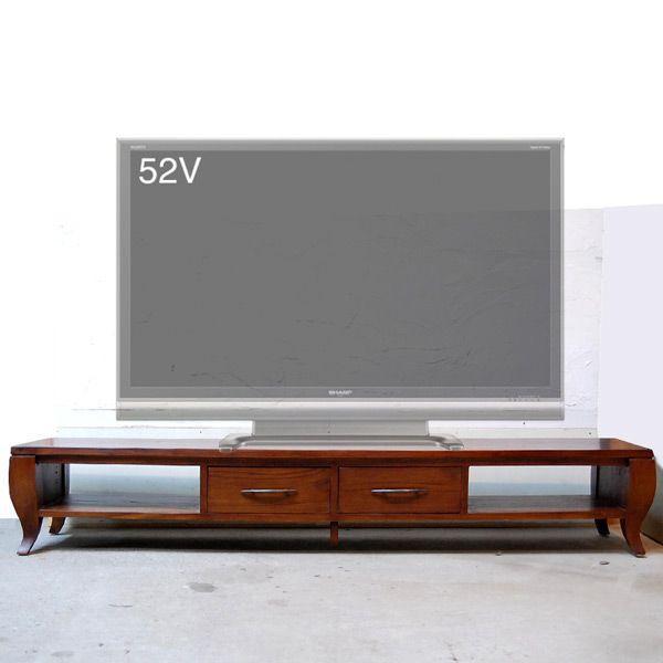 TVラック1800・TV Cabinet・テレビ台・・・チーク無垢材・オリジナル家具・インドネシア直輸入|artcrew|02
