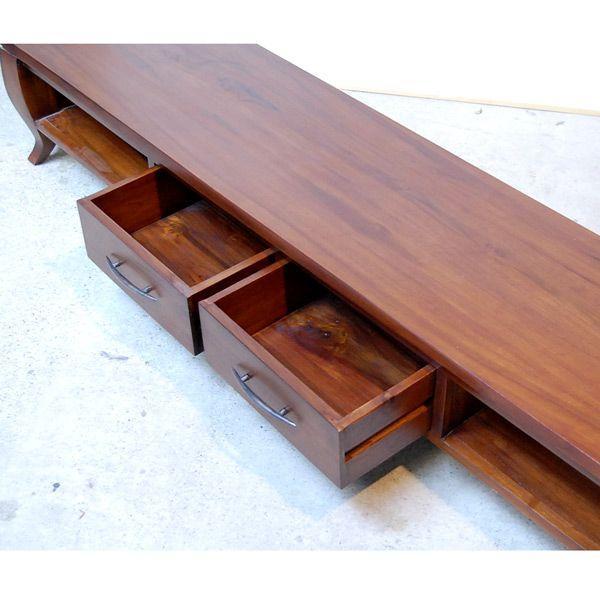 TVラック1800・TV Cabinet・テレビ台・・・チーク無垢材・オリジナル家具・インドネシア直輸入|artcrew|03
