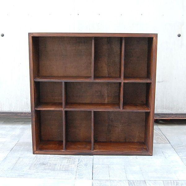 9ボックスラック・CDラック・コレクションケース・飾棚・本棚・チーク材・オリジナル家具・インドネシア直輸入|artcrew|02