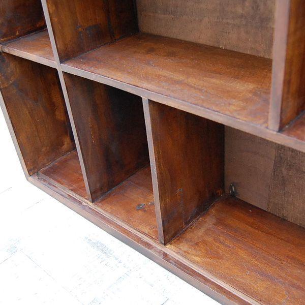 9ボックスラック・CDラック・コレクションケース・飾棚・本棚・チーク材・オリジナル家具・インドネシア直輸入|artcrew|04