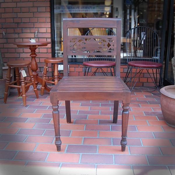 ダイニングチェア・ノーアーム・カーブドチェア・・・チーク・オリジナル家具・インドネシア直輸入|artcrew|02