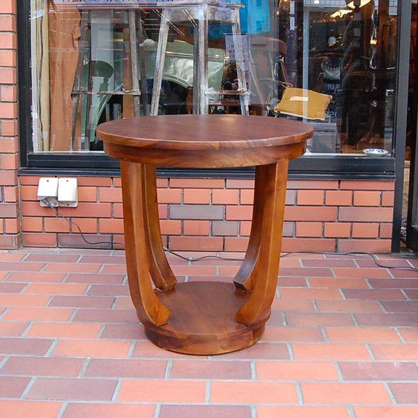 ラウンドサイドテーブル 丸テーブル コーヒーテーブル チーク無垢材・インドネシア直輸入 無垢材家具|artcrew|02