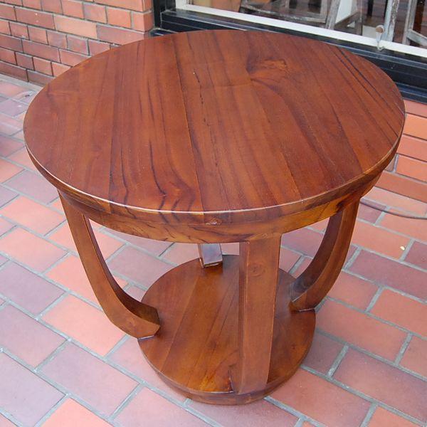 ラウンドサイドテーブル 丸テーブル コーヒーテーブル チーク無垢材・インドネシア直輸入 無垢材家具|artcrew|03