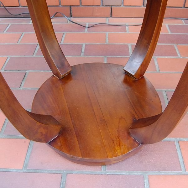ラウンドサイドテーブル 丸テーブル コーヒーテーブル チーク無垢材・インドネシア直輸入 無垢材家具|artcrew|04
