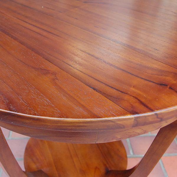 ラウンドサイドテーブル 丸テーブル コーヒーテーブル チーク無垢材・インドネシア直輸入 無垢材家具|artcrew|05