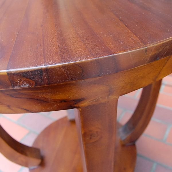 ラウンドサイドテーブル 丸テーブル コーヒーテーブル チーク無垢材・インドネシア直輸入 無垢材家具|artcrew|06