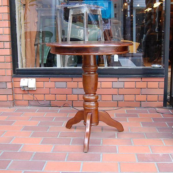 ワインテーブル・ラウンドテーブル・60cm・丸テーブル・チーク無垢材・インドネシア直輸入・アンティークスタイル artcrew 03
