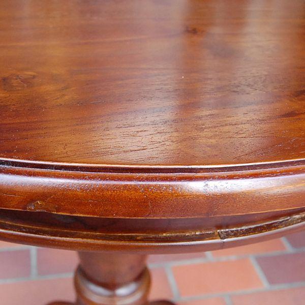 ワインテーブル・ラウンドテーブル・60cm・丸テーブル・チーク無垢材・インドネシア直輸入・アンティークスタイル artcrew 05