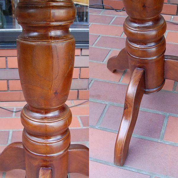 ワインテーブル・ラウンドテーブル・60cm・丸テーブル・チーク無垢材・インドネシア直輸入・アンティークスタイル artcrew 06