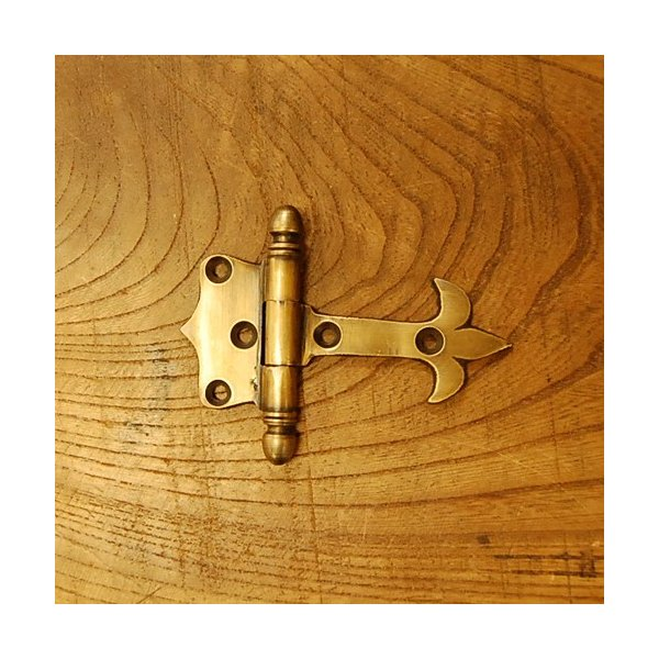 ブラス蝶番106 ヒンジ 真鍮・・・インドネシア直輸入・インテリアパーツ・古色仕上げ|artcrew