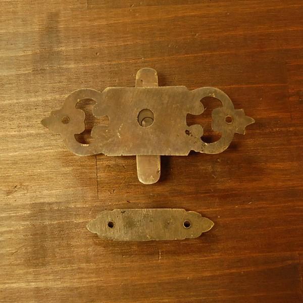 ブラス錠前 ロックパーツ ホック 真鍮金具・インドネシア直輸入・インテリアパーツ・古色仕上げ DIY 家具部品|artcrew|04