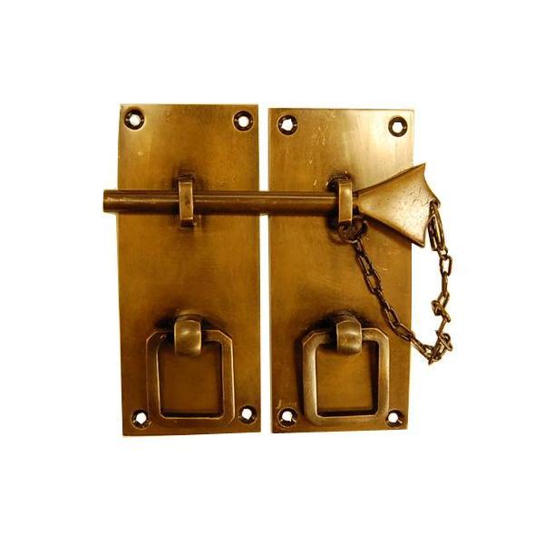 ブラス錠前163 真鍮金具・・・インドネシア直輸入・インテリアパーツ・古色仕上げ|artcrew