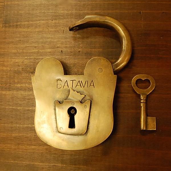 ブラス南京錠167 真鍮金具・・・インドネシア直輸入・インテリアパーツ・古色仕上げ artcrew 03