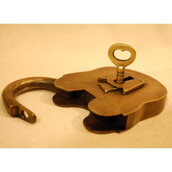 ブラス南京錠167 真鍮金具・・・インドネシア直輸入・インテリアパーツ・古色仕上げ artcrew 05
