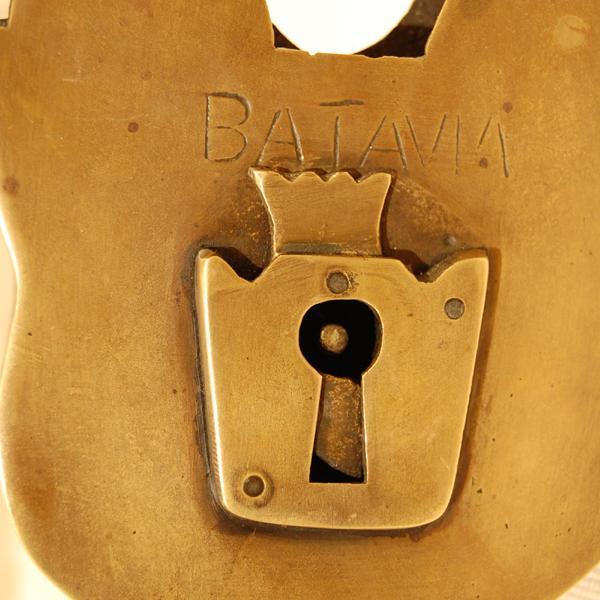 ブラス南京錠167 真鍮金具・・・インドネシア直輸入・インテリアパーツ・古色仕上げ artcrew 06