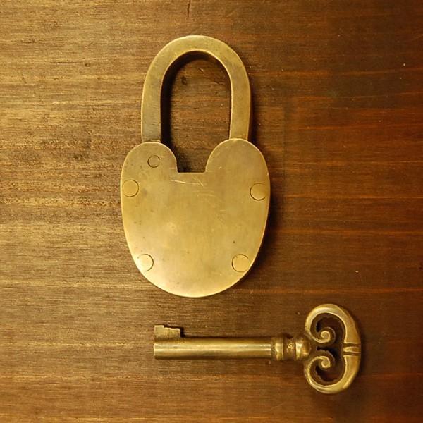 ブラス南京錠169 真鍮金具・・・インドネシア直輸入・インテリアパーツ・古色仕上げ|artcrew|05