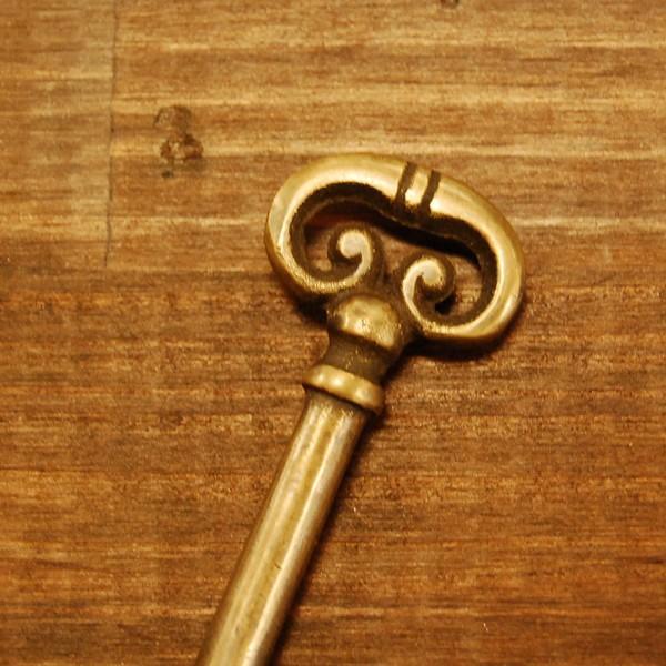 ブラス鍵169A 真鍮金具・・・インドネシア直輸入・インテリアパーツ・古色仕上げ|artcrew|03