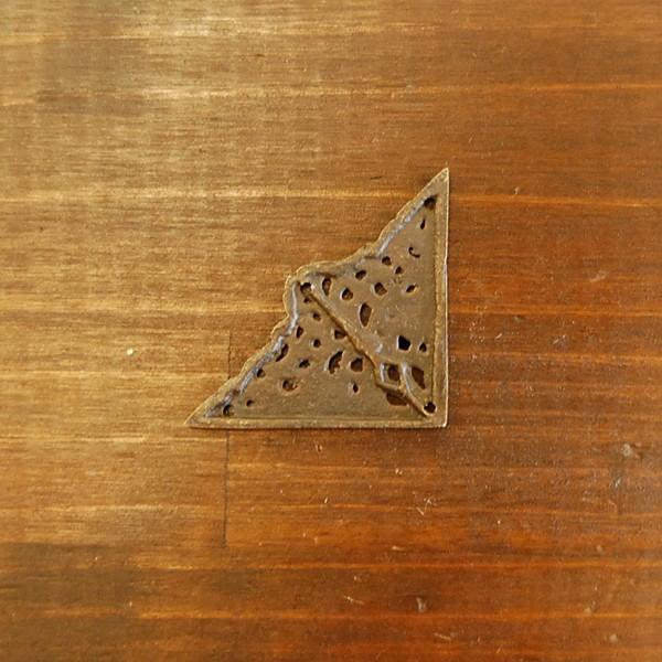 ブラス飾り 角飾り 真鍮金具・インドネシア直輸入・インテリアパーツ・古色仕上げ DIY 家具部品 artcrew 03
