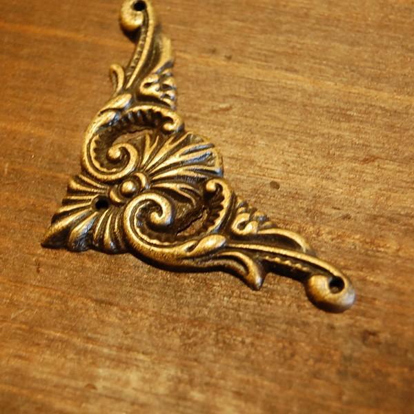 ブラス飾り 角飾り 真鍮金具・インドネシア直輸入・インテリアパーツ・古色仕上げ DIY 家具部品|artcrew|03