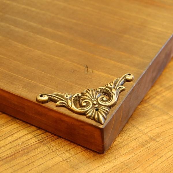 ブラス飾り 角飾り 真鍮金具・インドネシア直輸入・インテリアパーツ・古色仕上げ DIY 家具部品|artcrew|04