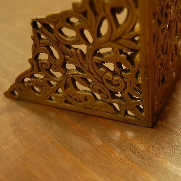 ブラス飾り203 真鍮金具 角飾り 角あて 家具部品 インドネシア直輸入 インテリアパーツ 古色仕上げ DIY artcrew 04