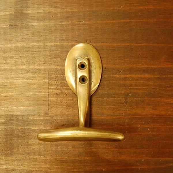 ブラスフック240 真鍮・・・インドネシア直輸入・インテリアパーツ・古色仕上げ|artcrew