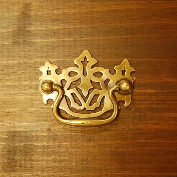 真鍮取っ手 把手 ブラス ドア取っ手 インドネシア直輸入・インテリアパーツ・古色仕上げ アンティーク仕上げ 家具修理 家具部品 DIY|artcrew