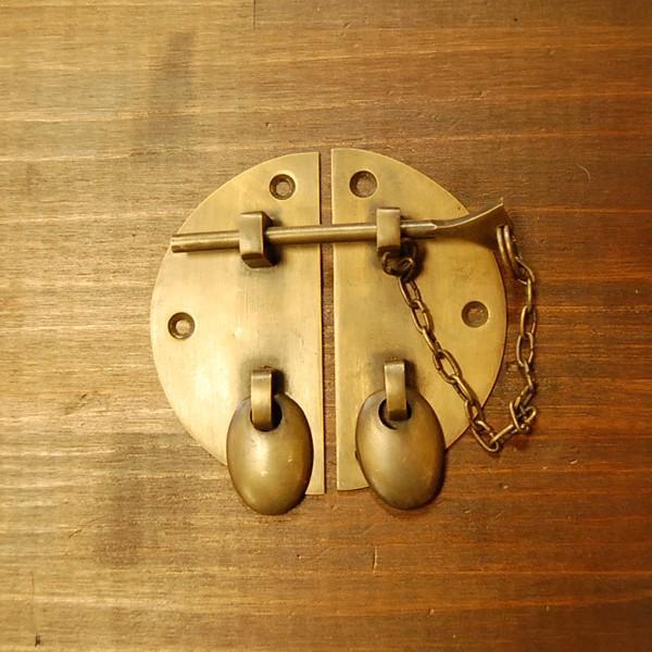 ブラス錠前347 真鍮金具 扉金具 家具部品 修理 DIY インドネシア直輸入 インテリアパーツ アンティーク仕上げ 古色仕上げ|artcrew