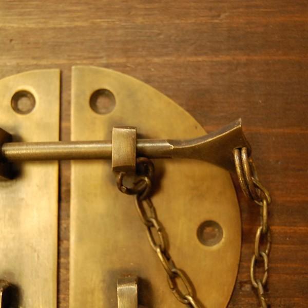 ブラス錠前347 真鍮金具 扉金具 家具部品 修理 DIY インドネシア直輸入 インテリアパーツ アンティーク仕上げ 古色仕上げ|artcrew|04