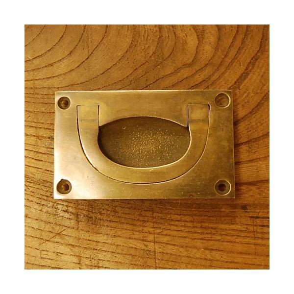 ブラス取っ手 引戸用 真鍮把手 インドネシア直輸入・インテリアパーツ・古色仕上げ アンティーク仕上げ 家具修理 家具部品 DIY|artcrew