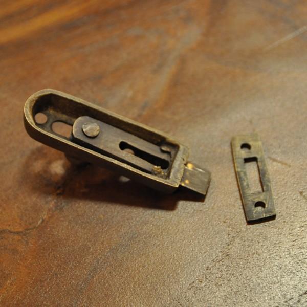 ブラス錠前368 真鍮金具 インドネシア直輸入 インテリアパーツ 古色仕上げ DIY 扉金具|artcrew|11
