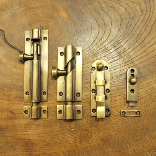 ブラス錠前368 真鍮金具 インドネシア直輸入 インテリアパーツ 古色仕上げ DIY 扉金具|artcrew|12