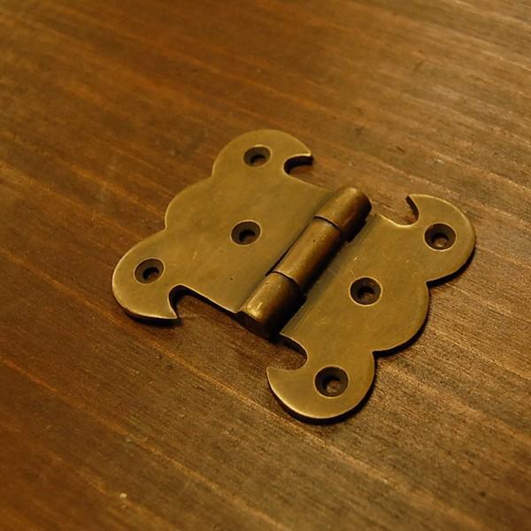 ブラス蝶番408 ヒンジ 真鍮・・・インドネシア直輸入・インテリアパーツ・古色仕上げ|artcrew|02