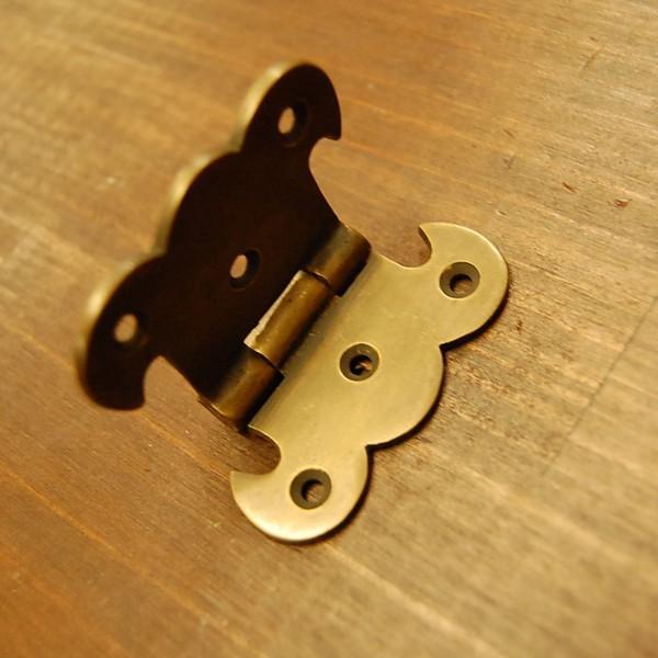 ブラス蝶番408 ヒンジ 真鍮・・・インドネシア直輸入・インテリアパーツ・古色仕上げ|artcrew|03