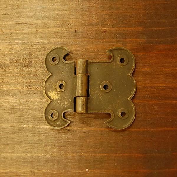 ブラス蝶番408 ヒンジ 真鍮・・・インドネシア直輸入・インテリアパーツ・古色仕上げ|artcrew|04