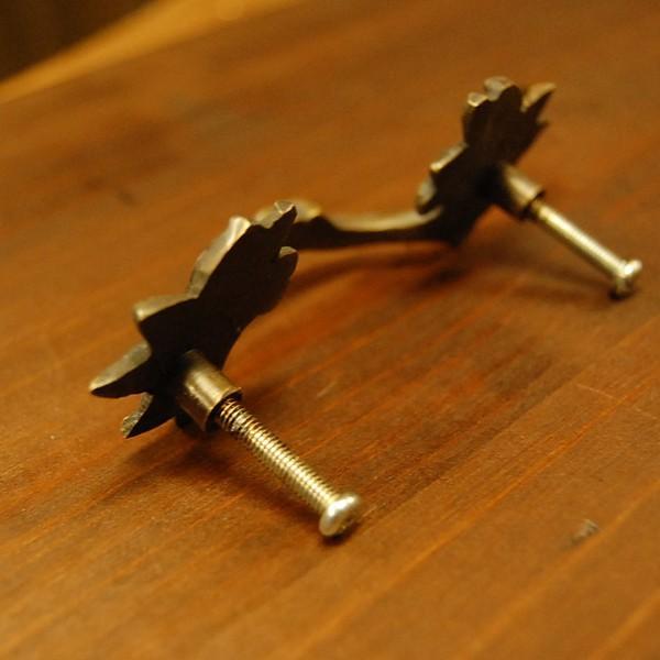 真鍮取っ手 把手 ブラス ドア取っ手 インドネシア直輸入・インテリアパーツ・古色仕上げ アンティーク仕上げ 家具修理 家具部品 DIY artcrew 05