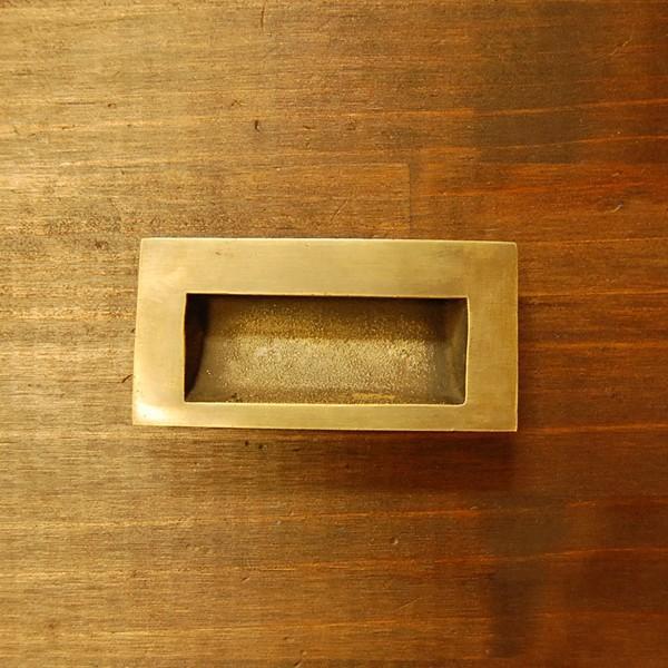 ブラスノブ413 真鍮把手・引戸用・・インドネシア直輸入・インテリアパーツ・古色仕上げ|artcrew
