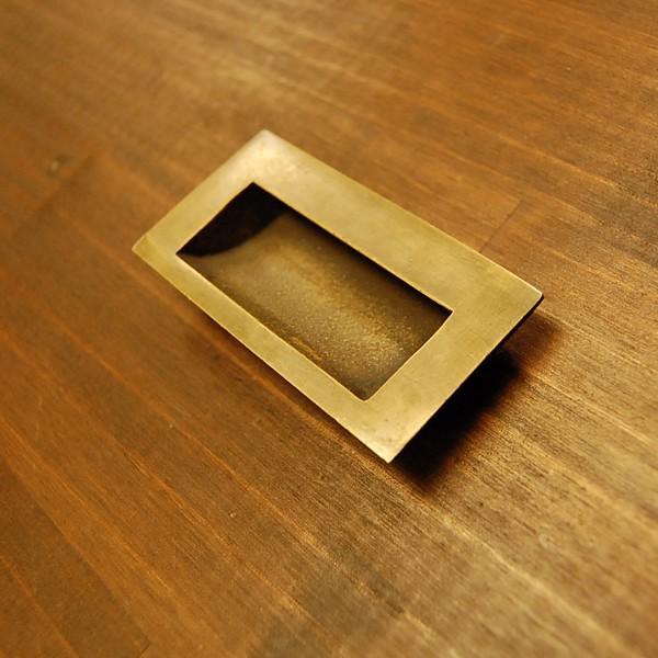 ブラスノブ413 真鍮把手・引戸用・・インドネシア直輸入・インテリアパーツ・古色仕上げ|artcrew|02