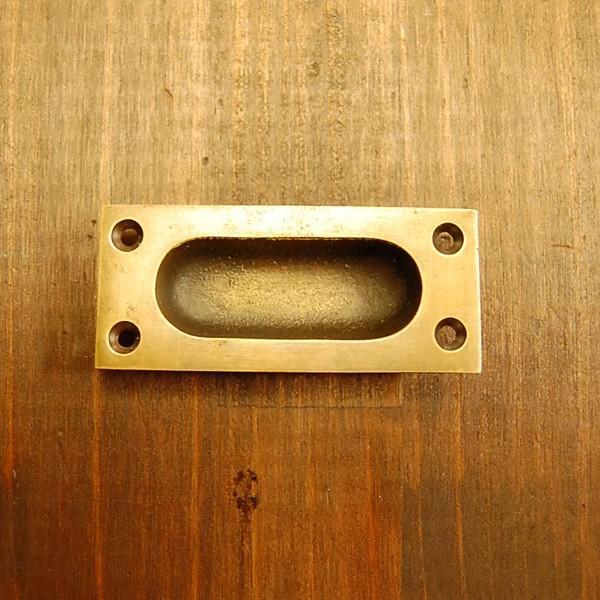 ブラス取っ手 引戸用 真鍮把手 インドネシア直輸入・インテリアパーツ・古色仕上げ アンティーク仕上げ 家具修理 家具部品 DIY|artcrew|04