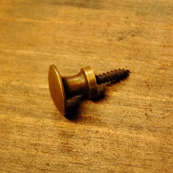 取っ手 スクリュー型 真鍮把手 ブラス おしゃれ 引き出し インテリアパーツ アンティーク仕上げ 古色仕上げ DIY 付け替え 修理 家具部品 インドネシア直輸入|artcrew