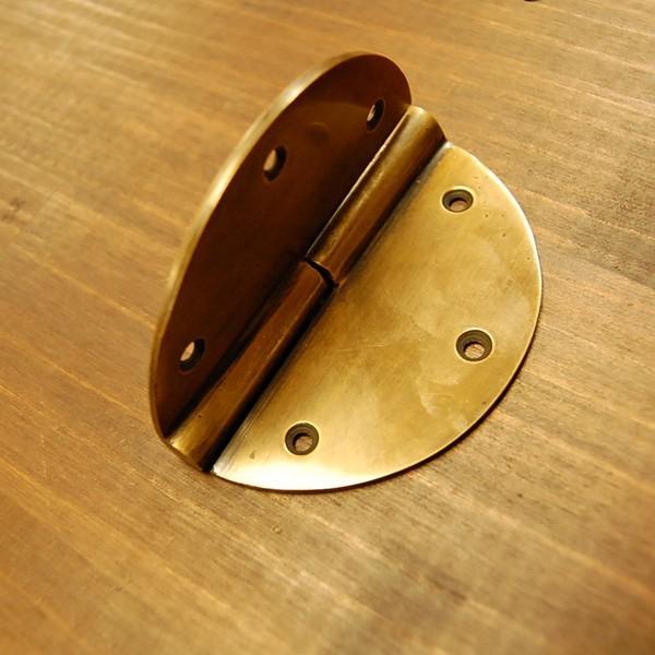 ブラス蝶番431-1 ヒンジ 真鍮・・・インドネシア直輸入・インテリアパーツ・古色仕上げ|artcrew|02