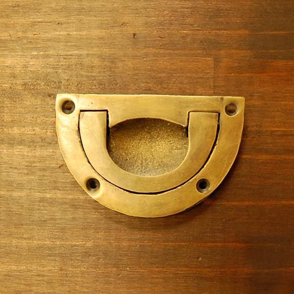 ブラスノブ432 真鍮把手・引戸用・・インドネシア直輸入・インテリアパーツ・古色仕上げ|artcrew