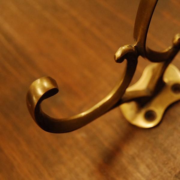 ブラスフック442 真鍮フック 洋服掛け 帽子掛け ハンガー・インドネシア直輸入・インテリアパーツ・古色仕上げ DIY|artcrew|03