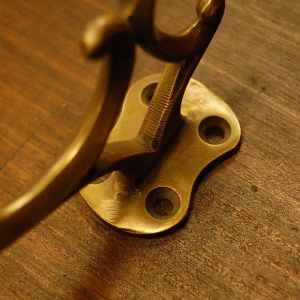 ブラスフック442 真鍮フック 洋服掛け 帽子掛け ハンガー・インドネシア直輸入・インテリアパーツ・古色仕上げ DIY|artcrew|04
